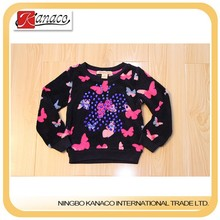 Newest design high quality girl sweater,pull ver,plush,EMB,Butterfly, designers clothes