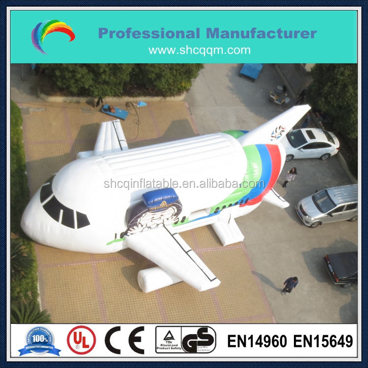2016 new design giant inflatable airplane theme jumping bouncer,inflatable airplane model