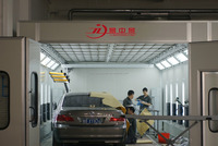 high quality water based paint spray booth automotive baking oven for BMW