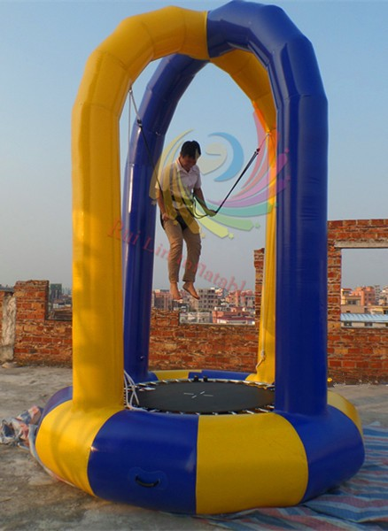 2015 new design crazy inflatable bungee trampoline for adults N children