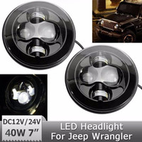 "7"" Round LED Projection Daymaker Headlight car Headlight Kit for Harley Motorcycles Jee-p Hummer Lan-d Rover"