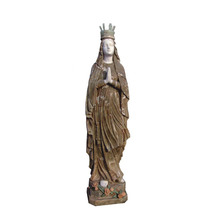 Stone carving pregnant virgin mary statue