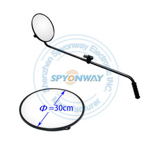 Standard Round Convex Inspection Security Mirror with Wheel Under Vehicle Inspection Mirror w/ Light