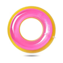 Double color swim ring for kids and adults inflatable swimming pool toy floats