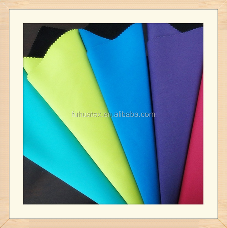 210T Polyester Lycra Woven Pongee Fabric Four Ways Stretch