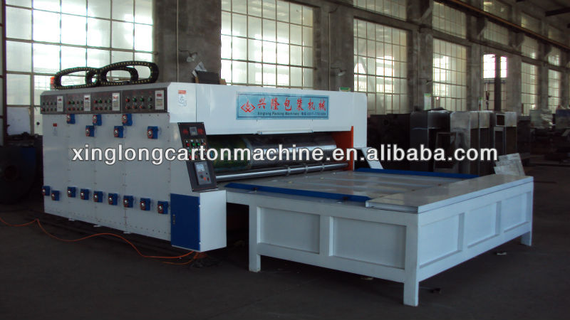 multi-color printer slotter and die cutter machine