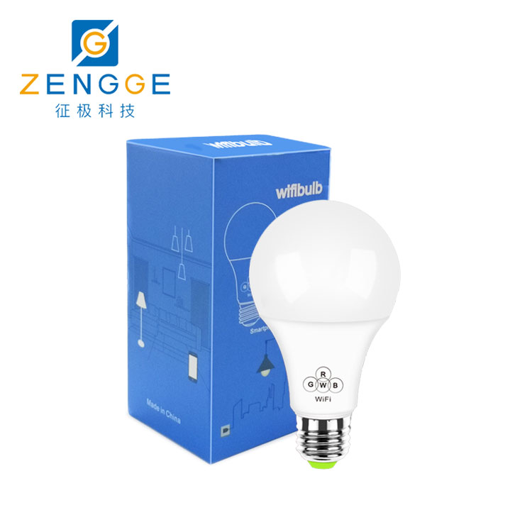 WiFi LED Bulb  E27 multi color smart led bulb  Google Alexa controlled LED smart wifi light switch bulb Group