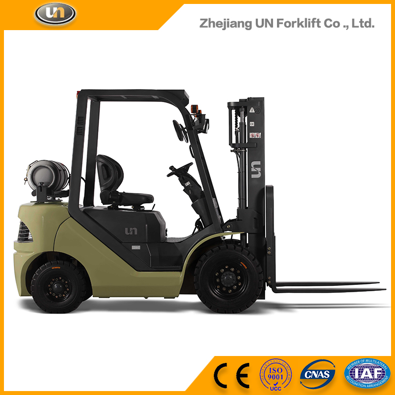Hot Selling High Quality Low Price 1.5 Ton Samll Vmax Gasoline Liquefied Gas Forklift Truck For Sale