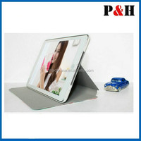 Fashion Folio PU Leather Stand Case for iPad Mini with Slepp and Awake Up Mode