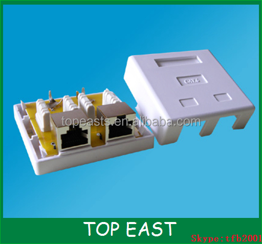 Cat6 FTP RJ45 Surface jack 2Port Duel Port Surface Jack/RJ45 Surface Jack