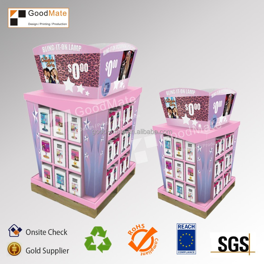 Cardboard book display stands portable library book for Portable book shelves