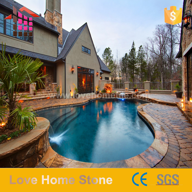 Wholesale price of interior and exterior natural stone slate tiles for flooring