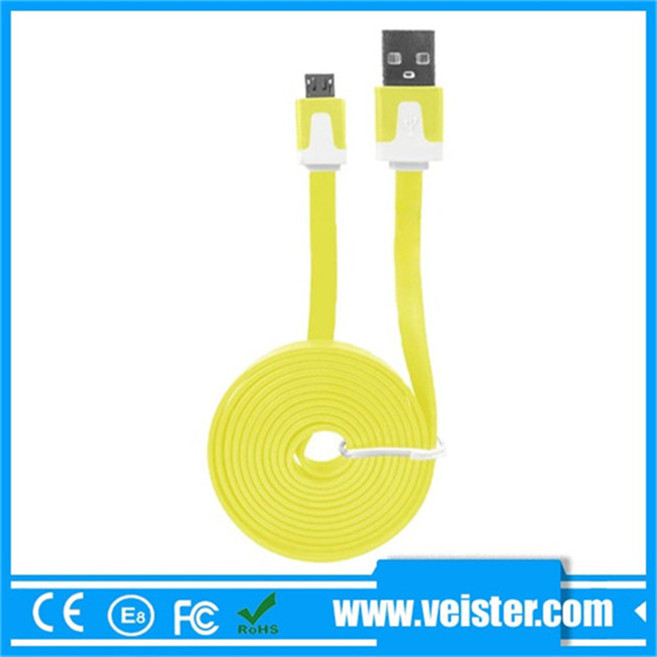 pvc insulated micro usb charging sync data cable