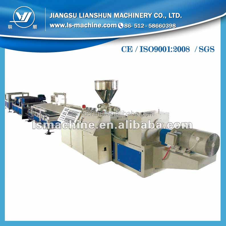 Professional wpc pillar extrusion line with high quality after sale services