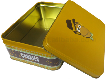 Custom Rectangular Biscuit Cookie Cake Tins Wholesale