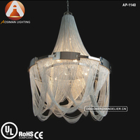 Luxury Silver Chain Chandelier Lighting