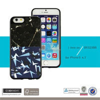 Wholesale Factory Laser Engraving Gloss Printing White Marble Cover for iPhone 6, TPU Marble for i Phone 6 Case, Marble Cases