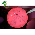 Shinny Red Advertising Inflatable Lighting Floating Balloon / Large Promotional Helium Parade Spheres Balloon