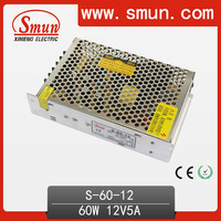 Auto Switching Power Supply 60W 12V 5A S-60-12