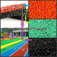wet pour EPDM system for kids carpet bulk playground rubber mulch