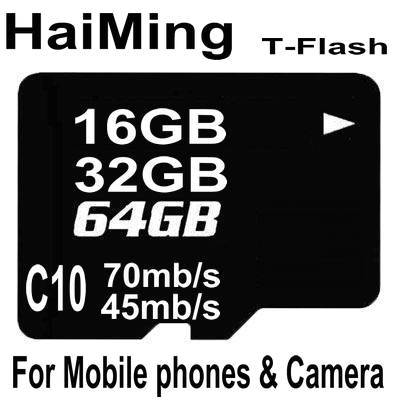 High speed TF Memory card for camera and mobile phones C10 T-Flash memory
