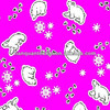 White Bear Printed Flannel Fabric for Baby Use Red Color