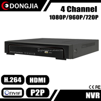 DONGJIA DJ-2004A H 264 1080P 4 Channel Digital Voice Recorder DVR With Remote Control