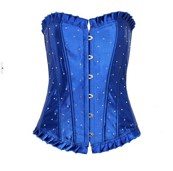 2015 Sexy Corset Overbust Waist Training Corsets 4colors Bustier Steampunk Corset Gothic Corselet Waist Training Cincher