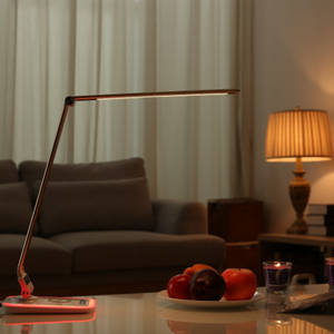 Anti angle led desk lamp with 5 grades brightness dimmer, wireless charger USB port