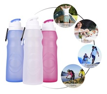 2017 New Design Plastic Foldable Water Bottles, Collapsable Plastic Bottles, expandable water bottles