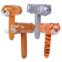 assorted zoo animal plastic mallet inflatable hammer toy