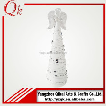 Creative glass angel with LED light made in China for decoration