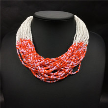 Latest design beads necklaces, seed bead necklace jewelry necklace