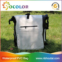 New Design 500D pvc tarpaulin dry bag backpack with pocket for hicking