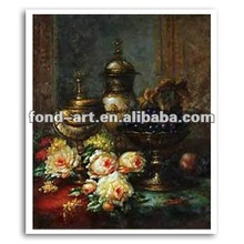 SL512-G3 Hand Painted Antique Decorative Still Life Oil Painting on Canvas