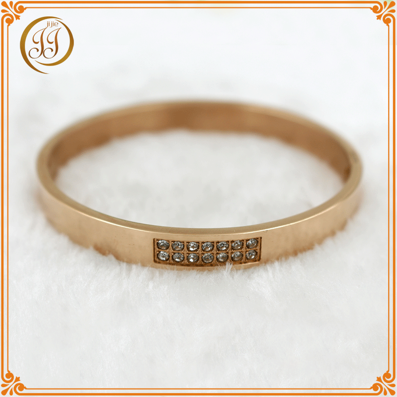 2016 Super quality cheap crystal bangle gold bracelet for wholesale
