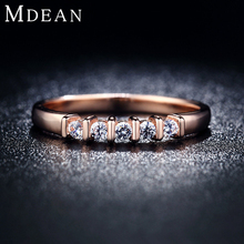 MDEAN 18KR019 wholesale and drop shipping OEM&ODM top quality in stock rose gold plated Jewelry Ring for women