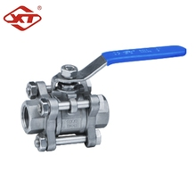 Professional Manufacturer Stainless Steel Full Bore 3PC Threaded Ball Valve