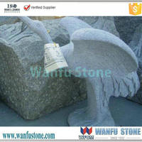 2015 granite stone Bird animal carving for outdoor designer,stone carving patterns