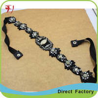 fashion crystal beaded bridal belt