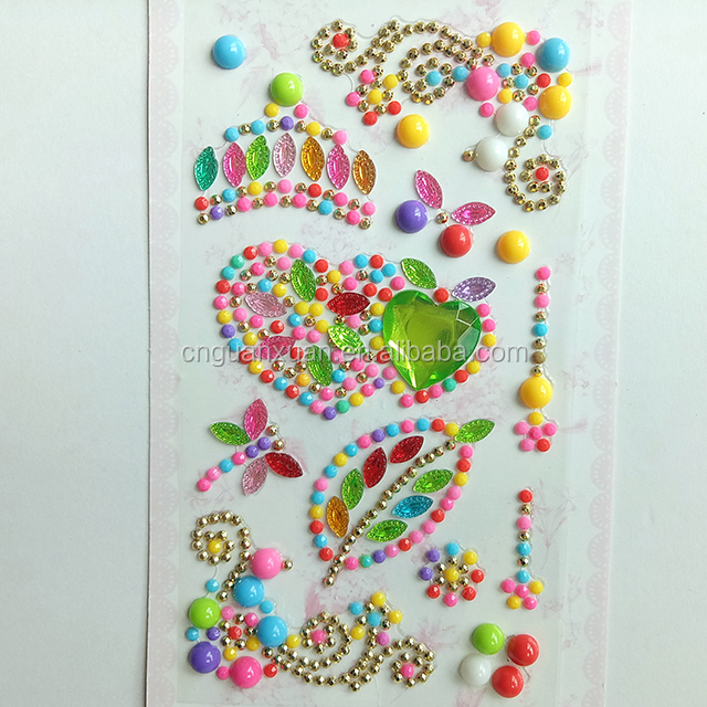 custom diy cell phone crystal skin mobile phone cover sticker