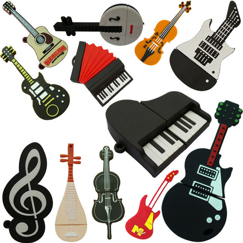 Musical Instruments Model USB <strong>flash</strong> drive microphone/piano/guitar Pen drive 4gb8gb16gb32gb <strong>flash</strong> memory stick