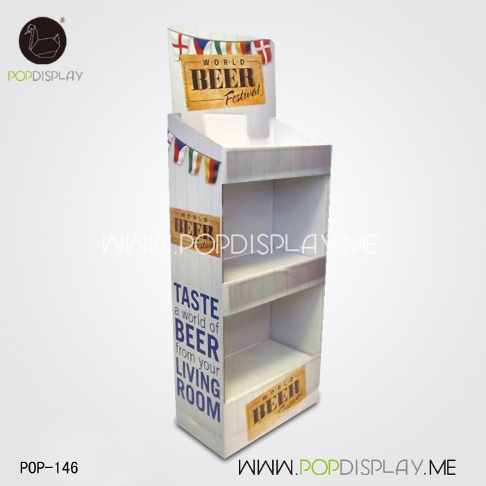 Hot Supermarket Rack Advertising Product Pengertian Stand Cardboard Floor Display
