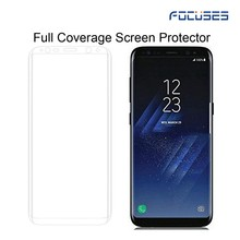 2017 NEWEST mobile accessories full edge cover tempered glass for Samsung galaxy S8 cell phone use screen protector