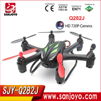 Where to buy quadcopter?SJY RC hobby shops. Q282J 2.4G 4CH 6Axis with 720P HD Camera RC quad copter with camera
