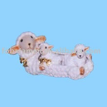 Decorative novelty figurine ceramic animal sheep