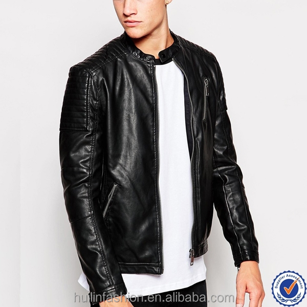 design your own Motorcycle leather jacket high quality casual men's leather zip coat