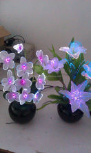 Wholesale decorative artificial hand made orchid flower with fiber optic