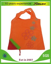 produce foldable polyester shopping bag for supermarket