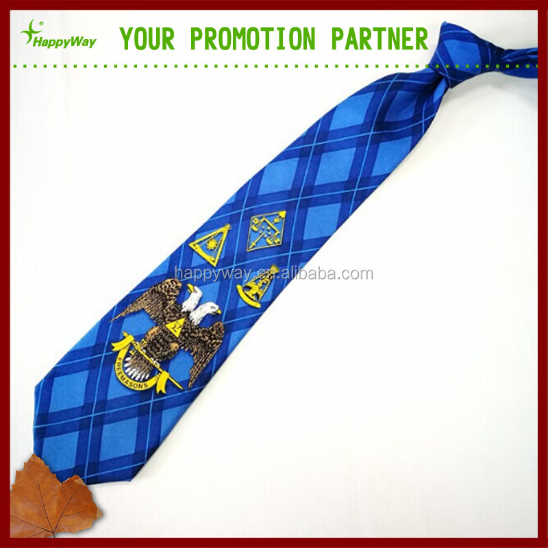 Logo Printed 100% Silk Mens Ties
